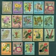 Guyana 1971-76 Flowers (faults) + Surch Asst FU/MH Lot79340 - Guyane (1966-...)