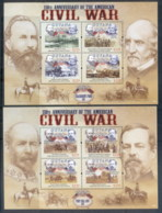 Guyana 2011 American Civil War 150th Anniv 2xMS MUH - Guyana (1966-...)
