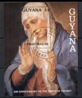 Guyana 1988 Xmas Paintings MS CTO - Guyana (1966-...)