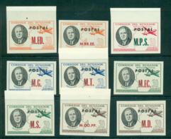 Ecuador 1948 Roosevelt Opt IMPERF (9) MUH Lot35842 - Ecuador