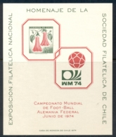 Chile 1974 World Cup Soccer Munich Stampex MS MUH - Ecuador