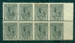 Uruguay 1923on Pictorials, Birds, Southern Lapwing  IMPERF Between 5m (tone Spots Top Perfs) Blk 8 MLH - Uruguay