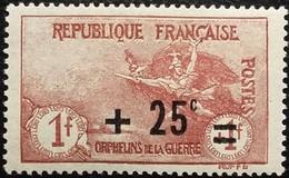France Y&T N°168 La Marseillaise à Paris 1Fr.+25c Brun Neuf* Gomme - France