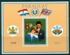 Paraguay 1981 Charles & Diana Wedding MS MUH Lot30423 - Paraguay