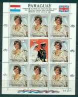 Paraguay 1981 Charles & Diana Wedding Sheetlet 5g + Label MUH Lot45158 - Paraguay