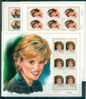 Nicaragua 1999 Princess Diana In Memoriam 3xMS MUH Lot82033 - Nicaragua