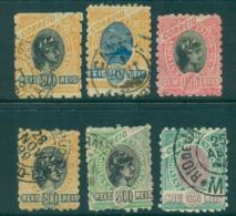 Brazil 1899 Liberty Heads Asst (6) FU Lot36119 - Brazil