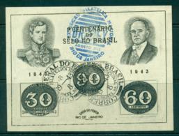 Brazil 1943 Postage Stamp Cent. MS FU Lot36237 - Brazil