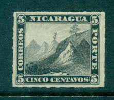 Nicaragua 1878-80 5c Liberty Cap On Mountain Rouletted  MH Lot46758 - Nicaragua