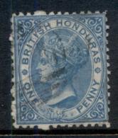British Honduras 1872 1d Blue QV Portrait Wmk Crown CC Perf 12.5 FU - Ecuador