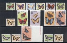Guyana 1978-80 Insects, Butterflies Asst FU/MUH - Guyana (1966-...)
