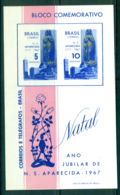 Brazil 1967 Xmas Our Lady Of The Apparition MS MUH Lot36508 - Unclassified