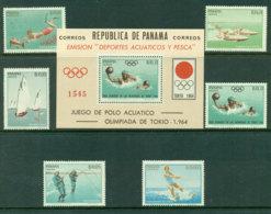 Panama 1964 Aquatic Sports + MS MUH Lot17872 - Panama