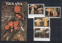 Guyana 1989 Funghi + MS CTO - Guyana (1966-...)