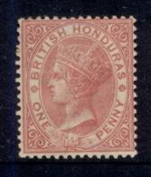 British Honduras 1882-87 1d Rose QV Portrait Wmk Crown CA MHH - Ecuador