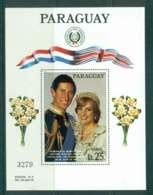 Paraguay 1981 Charles & Diana Wedding MS MUH Lot45150 - Paraguay