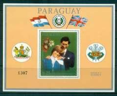 Paraguay 1981 Charles & Diana Wedding MS Orange Border MUH Lot45154 - Paraguay