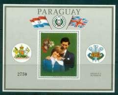 Paraguay 1981 Charles & Diana Wedding MS Grey Border MUH Lot45155 - Paraguay