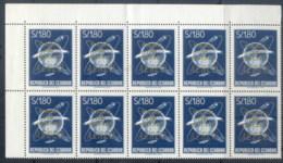 Ecuador 1964 Airmail, Faro De Colon Opt Blk 10 MUH - Equateur