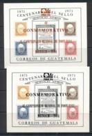 Guatemala 1974 Stamp Centenary MS Opt World Cup Soccer Munich, Red & Black - Guatemala