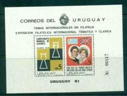 Uruguay 1981 Charles & Diana Wedding, Chess MS MUH Lot45318 - Uruguay