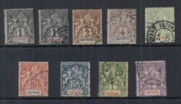 French Guiana 1892-1904 Navigation & Commerce Asst FU - Unclassified