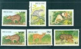 Belize 1989 Indigenous Small Animals MUH Lot81062 - Belize (1973-...)