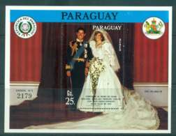 Paraguay 1981 Charles & Diana Wedding MS MUH Lot45156 - Paraguay