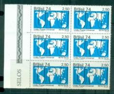 Brazil 1974 Centenary Of UPU Blk 6 MUH Lot76358 - Unclassified