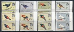 British Honduras 1962 Pictorials, Birds To 25c Prs MUH - Ecuador