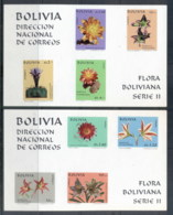 Bolivia 1971 Bolivian Flora Series II IMPERF 2xMS MUH - Bolivie