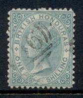 British Honduras 1872 1/- Green QV Portrait Wmk Crown CC Perf 12.5 FU - Ecuador