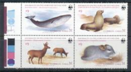 Chile 1985 WWF Endangered Species Blk4 MUH - Ecuador