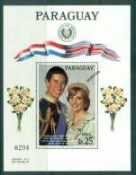 Paraguay 1981 Charles & Diana Wedding MS SPECIMEN MUH Lot45151 - Paraguay
