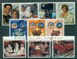 Paraguay 1981 Charles & Diana Wedding Str4,3 + 4 SPECIMEN (light Creases)MUH Lot45153 - Paraguay