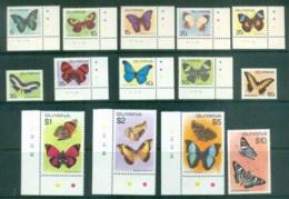 Guyana 1978-80 Butterflies MUH Lot80918 - Guyane (1966-...)