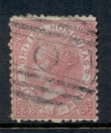 British Honduras 1872 6d Rose QV Portrait Wmk Crown CC Perf 12.5 FU - Ecuador