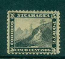 Nicaragua 1862 5c Mountain Peak MHH Lot43150 - Nicaragua