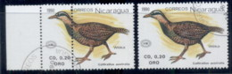 Nicaragua 1990 Bird, Perforition ERROR & Normal ( Headless Chook !) CTO - Nicaragua