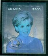 Guyana 1998 Princess Diana In Memoriam, Holographic MS MUH - Guyana (1966-...)