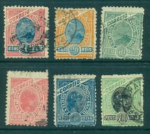 Brazil 1905 Liberty, Sugarloaf Mt, Wmk Republica (6) FU Lot36124 - Unclassified