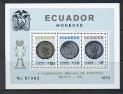 Ecuador 1974 Coins MS Opt World Cup Soccer Munich MUH - Ecuador