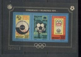 Uruguay 1974 Soccer Olympics & UPU MS MUH - Uruguay