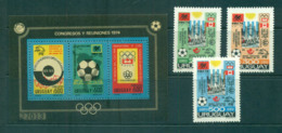 Uruguay 1976 UPU Centenary/Olympics/Soccer MS +3  MUH Lot56364 - Uruguay
