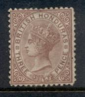 British Honduras 1872 3d Brown QV Portrait Wmk Crown CC Perf 12.5 Mint Part OG - Ecuador