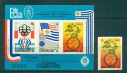 Uruguay 1975 UPU Centenary IMPERF MS + 1 MUH Lot56347 - Uruguay