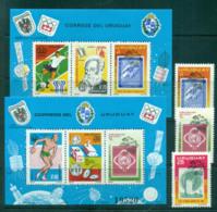 Uruguay 1976 UPU Centenary/Olympics/Soccer 2x MS +3  MUH Lot56363 - Uruguay