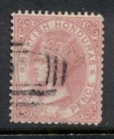 British Honduras 1877-79 6d Rose QV Portrait Wmk Crown CC FU - Ecuador