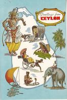 CEYLON   Pictorial Map Of Ceylon Sri Lanka - Cartes Géographiques