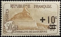 France Y&T N°167 Le Lion De Belfort +10  50Cc.+50c Brun Neuf* Gomme - France